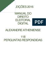 Manual de Direito Eleitoral e Digital - Eleições