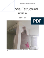 Memoria Estructural CUVIER 104