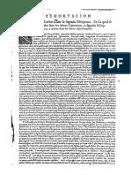 Amonestacion Al Lector Casiodoro de Reina 1599 y Cipriano de Valera 1602