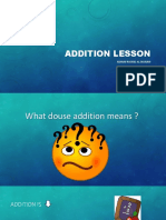 addition lesson