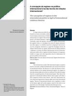 A concepção de regimes na política internacional à luz das teorias de relações internacionais