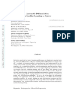 Automatic Differentiation in Machine Learning a Survey 2015