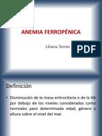 Anemia Ferropénica y Aplasica
