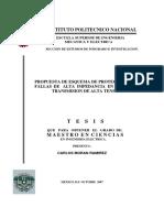 Propuestas de Esquema de Proteccion Para Fallas de Alta Impedancia en Lineas de Transmision de Alta Tension