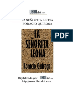 Quiroga, Horacio - La Señorita Leona