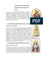 Advocaciones de La Virgen Maria