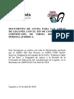 Cómo solicitar  el certificado de firma digital de persona jurídica para AMPAS