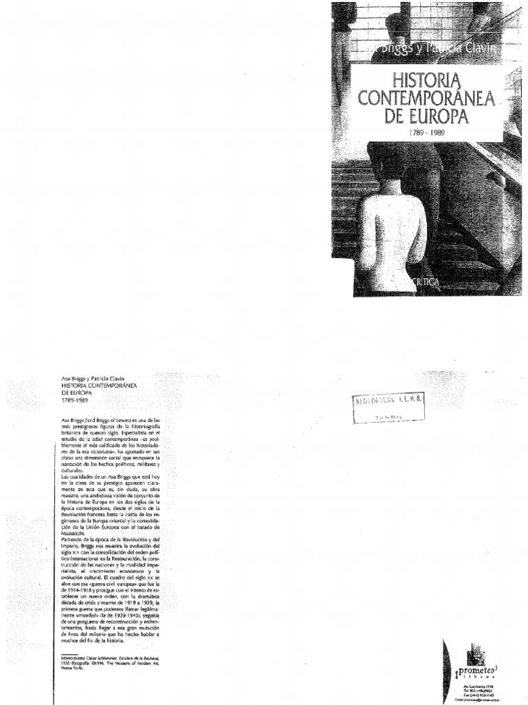 Briggs Asa y Patricia Clavin, Historia contemporanea de