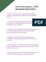 15 SITES NACIONAIS E INTERNACIONAIS PARA BAIXAR EBOOKS GRATIS.rtf