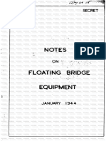 Mulberry Harbour. SECRET.notes on Floating Bridge Equipment. Jan 1944