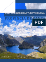 Plan de Desarrollo Turistico Local -Plan Canta