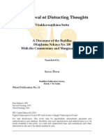 Removal of Distracting Thoughts (Vitakkasanthana Sutta)