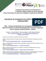 Liste Des Contacts UPPA Beca de La Escuela Doctoral Franco