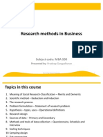 Marketing Research - 1 - Mar2009