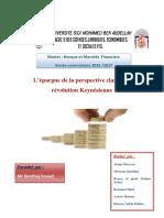 l Epargne de La Perspective Classique a La Revolution Keynésienne