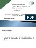Appui Institutionnel a l'Entrepreneuriat Social Au Maroc