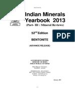 Indian Minerals Year Book_2013_Vol III_Bentonite 2013