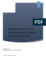 Human Security and National Security