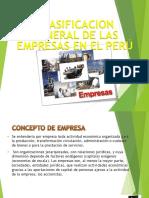 Clasificacion General de Las Empresas en El Peru