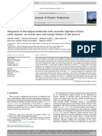 Integration of Microalgae Production With Anaerobic Digestion of Dairy Cattle Manure - An Overall Mass and Energy Balance of the Process