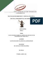 Conclusiones Del Capitulo III Proyecto de Investigacion 2018
