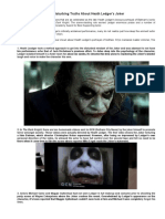 25 Disturbing Truths About Heath Ledger's Joker