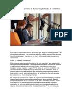 Beneficios de Los Servicios de Outsourcing Contable y Contabilidad