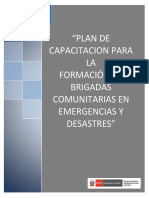 Plan de Capacitacion Brigadistas