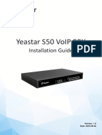 Yeastar S50 Installation Guide En