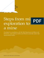 Steps From Mineral Exploration to a Mine (WA Information Product)