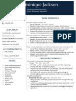 Dominique Edited Resume 2018**