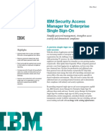 IBM SAM for Enterprise SSO DataSheet