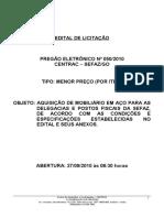 PREGÃO ELETRÔNICO 050-2010-MOBILIÁRIO DE AÇO