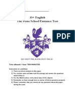 English 13plus Entrance Exam