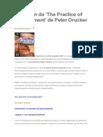 Resumen de La Practica de La Gerencia Peter Drucker