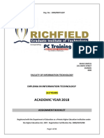 Assignment Booklet 2018-Dit 3years (3rd Year)