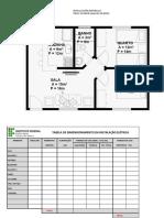 Tabela de Dimensionamento Da Instalação Elétrica