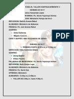Programa y Comisiones Contracorriente 5
