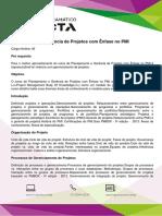 Conteúdo Programático - Planejamento e Gerência de Projetos Com Ênfase No PMI