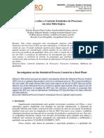 Investigação Sobre o Controle Estatístico de Processos