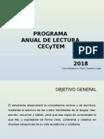 2o programa de lectura 2018 2