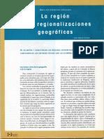 La Región y Las Regionalizaciones Geográficas