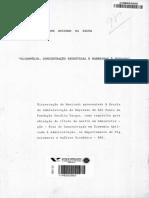 Wilson Rezende da Silva - Oligopolio, Concentração Industrial e Barreiras à Entrada