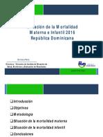 Situacion Mortalidad Materna Infantil 2016