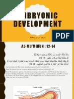 Embryonic Development - Rifqi Ali Zaki