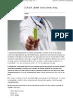 Alterações Na Cor Da Urina (Urina Verde, Roxa, Laranja, Azul…)
