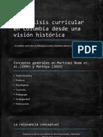 El Análisis Curricular en Colombia Desde Una Visión Histórica_Montoya (2016) y Martínez Et Al (1994)