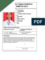 Kartu Pendaftaran SNMPTN 2018 4180249964
