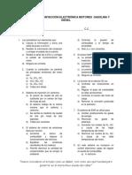Evaluación de Inyección Electrónica Motores Gasolina y Diésel