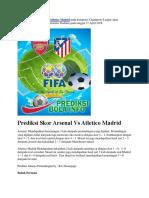 Prediksi Skor Arsenal VsAtletico Madrid 27 April 2018